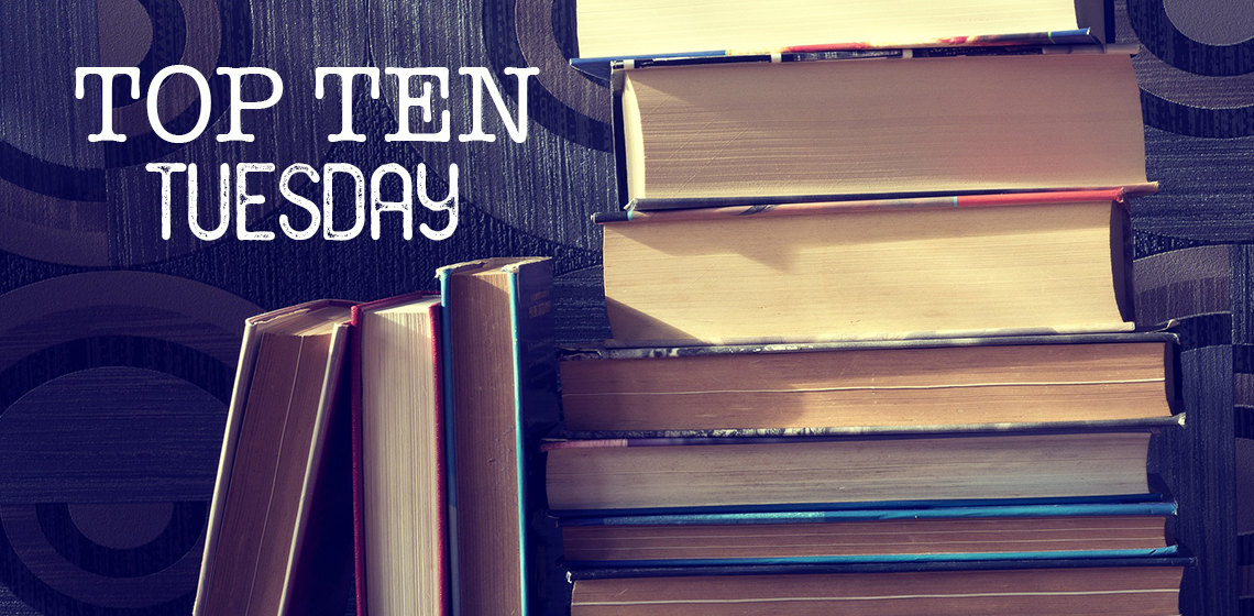 Pile of books and Top Ten Tuesday