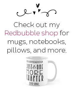 trishajennreads' coffee mug and link to redbubble shop