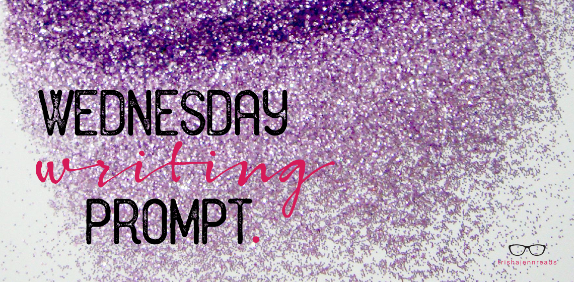 purple glitter - writing prompt - trishajennreads
