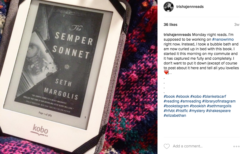 The Semper Sonnet on trishajennreads instragram