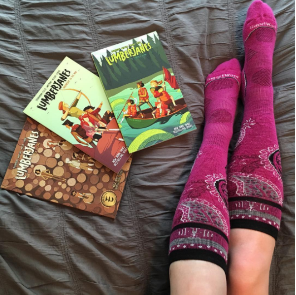 Lumberjanes, trishajennreads on instragram