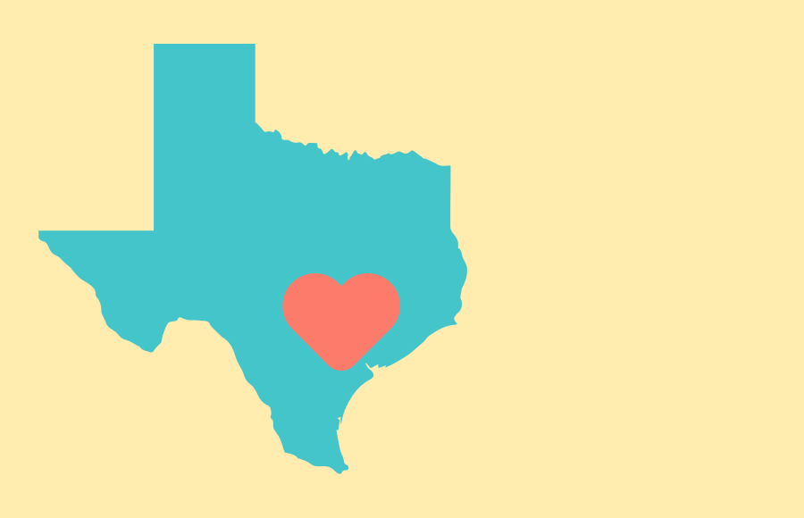 texas with a heart