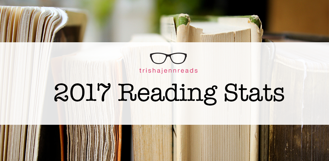 2017 reading stats on trishajennreads