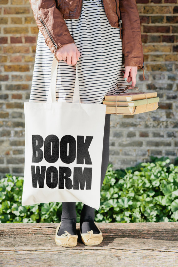 Bookish tote bag from Alphabet Bags