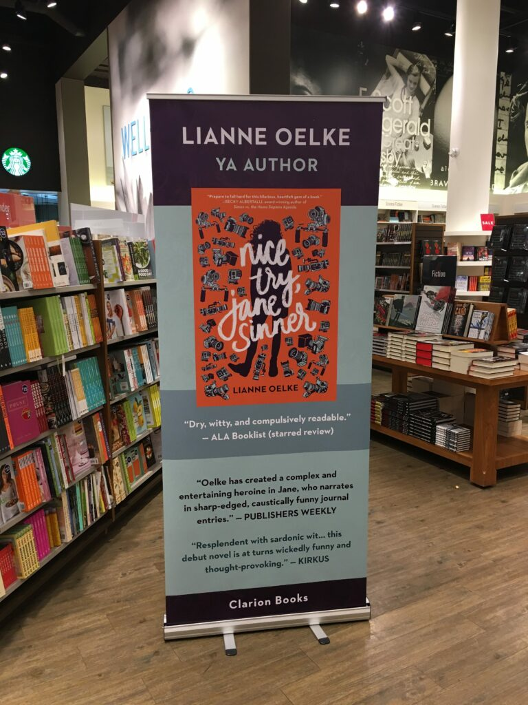 Nice Try, Jane Sinner by Lianne Oelke banner