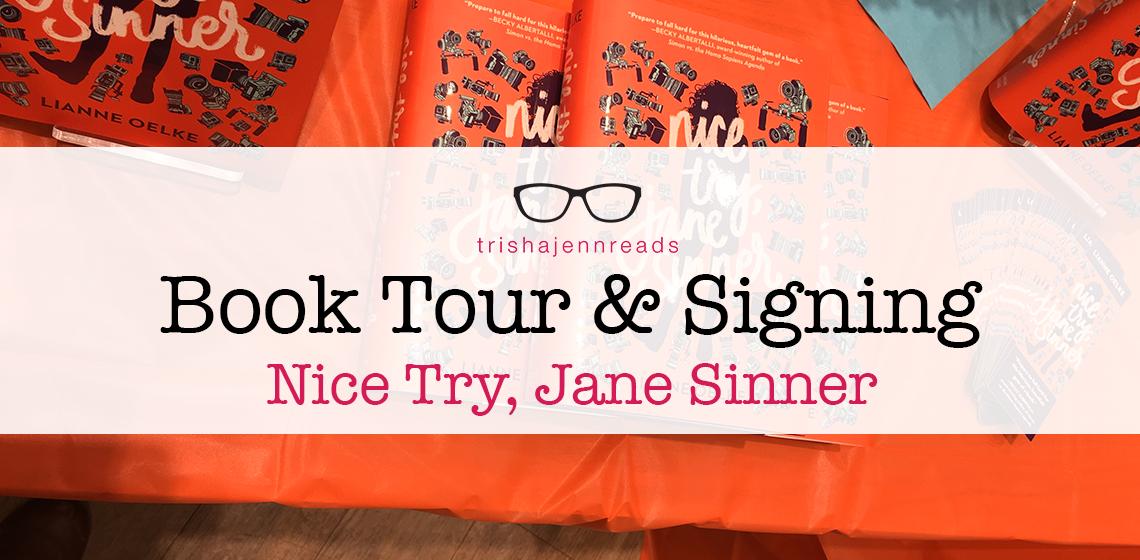 Book tour - Nice Try, Jane Sinner