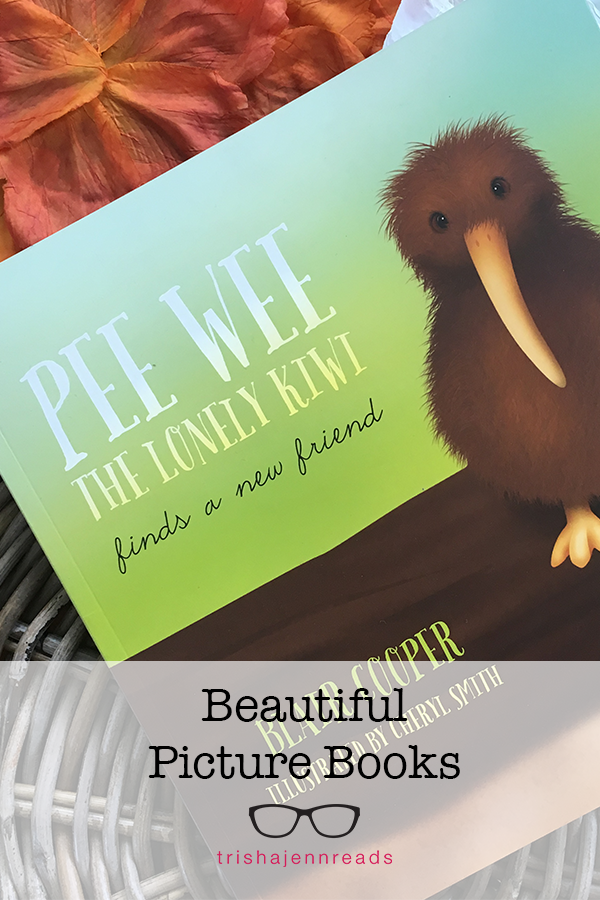 Pee Wee the Lonely Kiwi Finds a New Friend - a beautiful book on trishajennreads.com