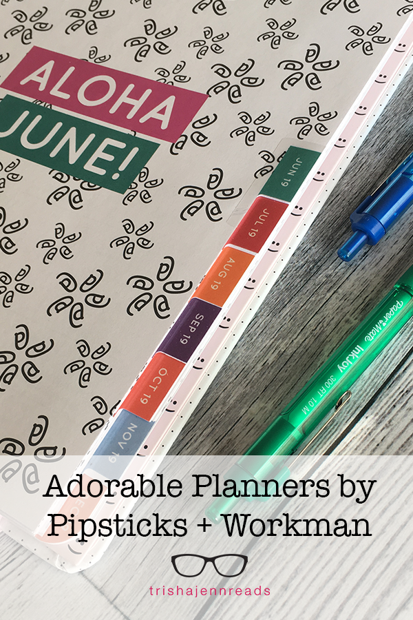 Adorable planners by Pipsticks + Workman, reviewed by trishajennreads.com