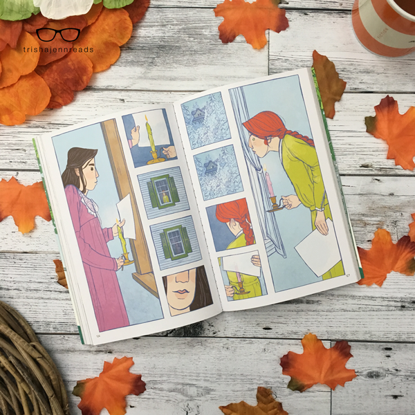 I love the style of this book (Anne of Green Gables, a graphic novel) and the colours the illustrator decided to use.