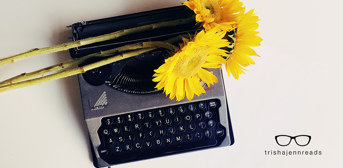 "Writing tips for fiction writers - What the advice ""show don't tell"" really means, photo of yellow flowers on an old typewriter"