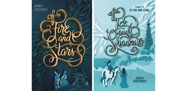 Of Fire and Stars Series book covers