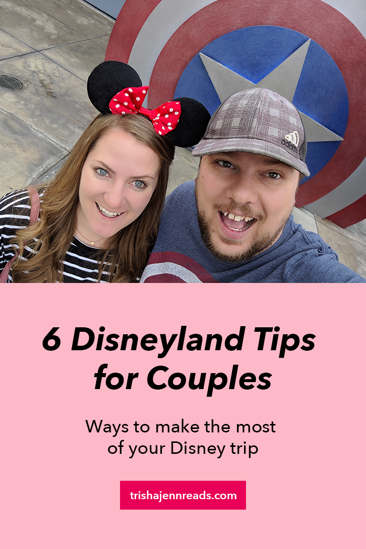 6 Disneyland tips for couples - a photo of a man and a woman at Disneyland