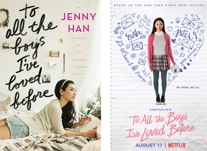 To all the boys I've loved before book cover and movie poster