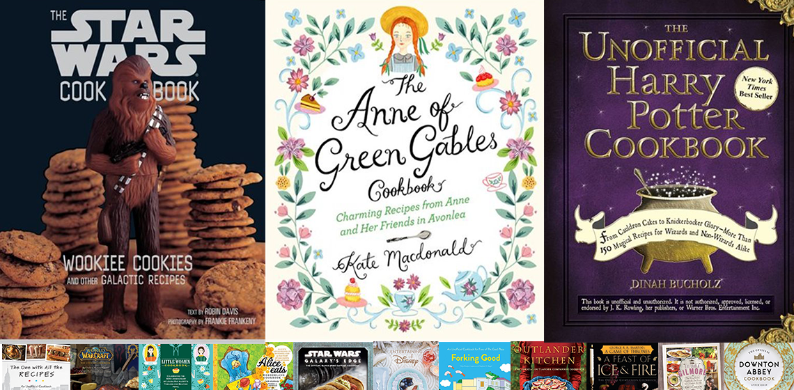 Fandom cookbooks - wookiie cookies, anne of green gables, harry potter and more